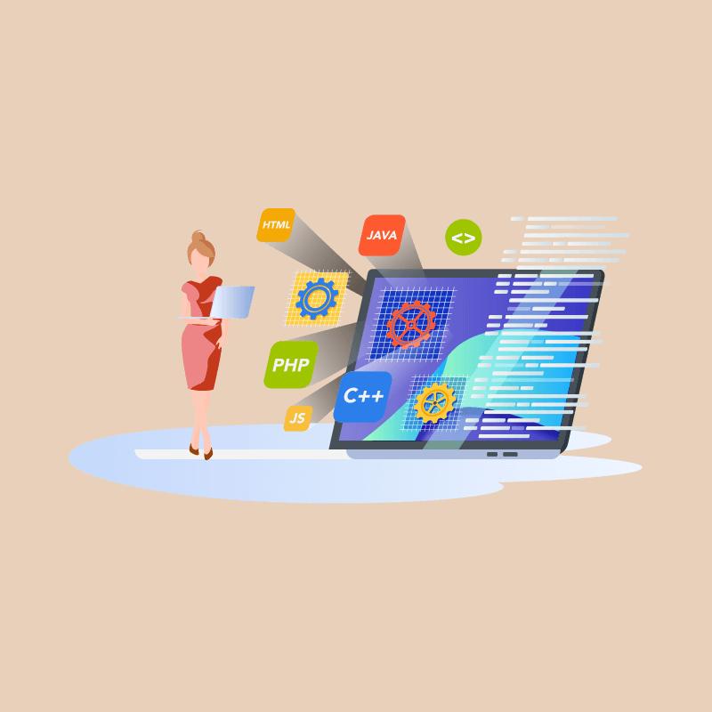 A woman web developer